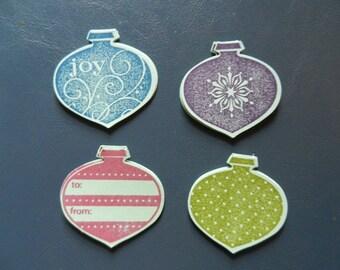 Set of 16 Handmade Christmas Ornament Gift Tags