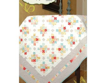 "Butterfly Kisses Pattern BK207 Mini Granny Quilt. Finished quilt size 42 1/2"" x 42 1/2""."