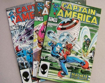 Captain America issues 302 to 304