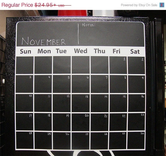 Magnetic Weekly Calendar For Refrigerator : Unavailable listing on etsy