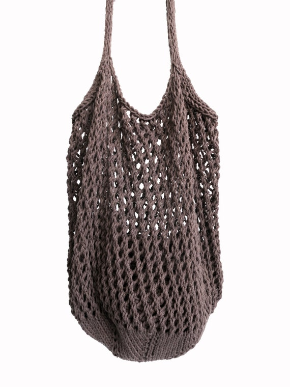 PATTERN for Knit Net Market Tote Shopping Grocery Bag Mesh // Farmers Ma...