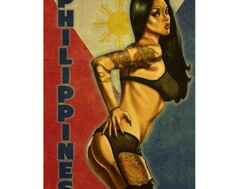 PHILIPPINES 1PS- Handmade Leather Photo Album - Travel Art