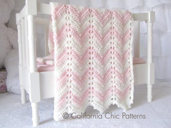 Easy Crochet PATTERN 55 Chevron Series by CaliChicPatterns