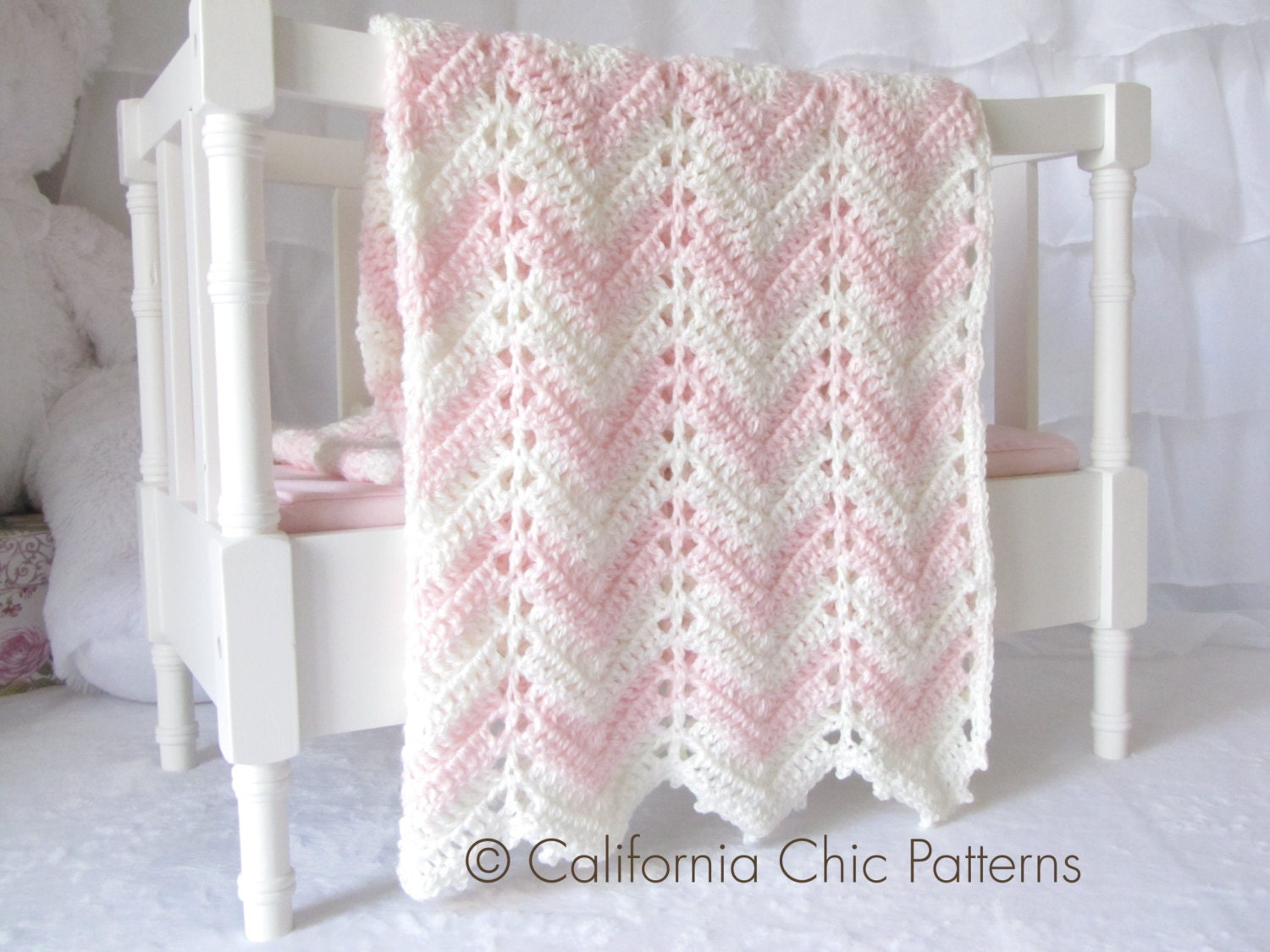 Easy Knitting Patterns For Throw Rugs : Crochet Baby Blanket PATTERN 55 - Chevron Series - Easy Crochet Blanket PATTE...