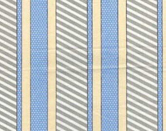 SUPER CLEARANCE! One Yard Cabana - Dotted Stripe in Sage and Periwinkle - Cotton Quilt Fabric - by Kanvas - Benartex (W842)