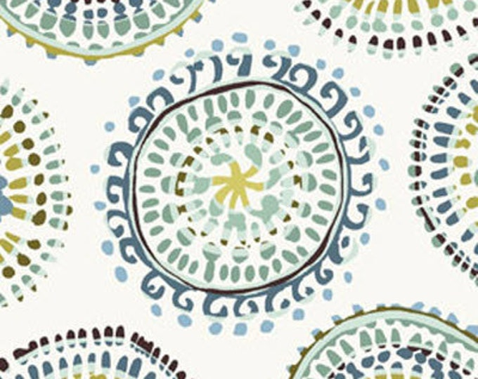 One Yard Sun-Kissed - Large Mosaic in Blue - Cotton Quilt Fabric - designed by Michele D'Amore for Benartex Fabrics (W1507)