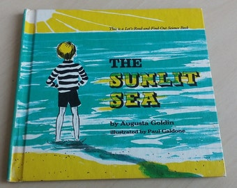 The Sunlit Sea 1968 vintage science book Augusta Goldin
