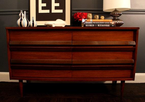 mid century modern bassett furniture dresser credenza