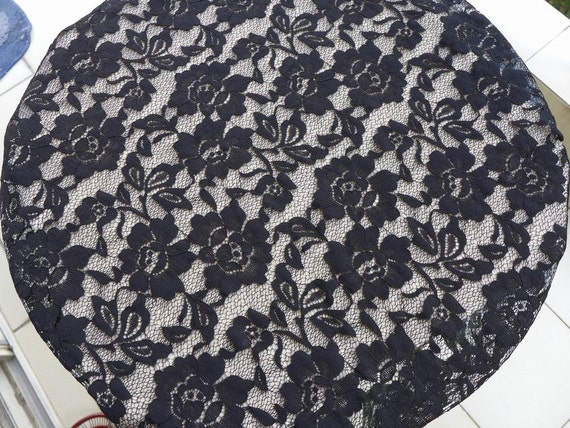 stretch fabric black rose elastic lace fabric black stretch