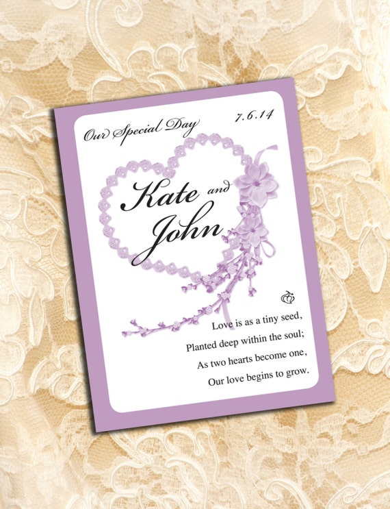 Wedding Favor Seed Packets Available In Other Colors Just