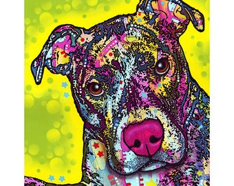 Pit Bull Brindle Dog Dean Russo Wall Decal #44801