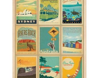 Australian Travel Poster Mosaic Wall Decal #48319