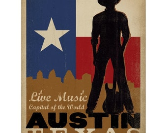 Austin Texas Live Music Capital Wall Decal #48326