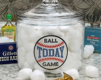 Ball Game Today Glass Canister Glass Lid 96 oz #41436