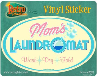 Moms Laundromat Laundry Room Vinyl Sticker #42585