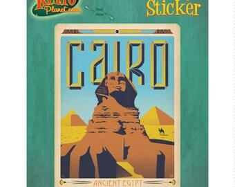 Cairo Ancient Egypt Sphinx Vinyl Sticker #47933