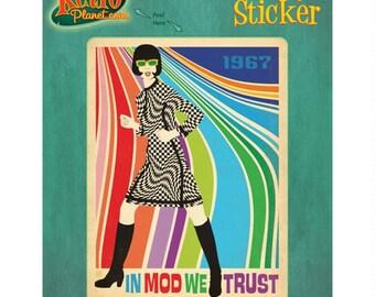 In Mod We Trust 1967 Fashion Vinyl Sticker #47967