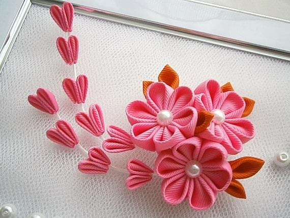 Pince à cheveux tissu Fleur Kanzashi avec accessoires pour cheveux falls,japonais costume oriental,
