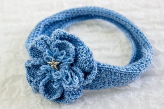 KNITTING PATTERN, Baby Headband , Knit Flower Headband ...