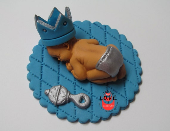 Little Prince Baby Topper Cake Topper Sleeping By