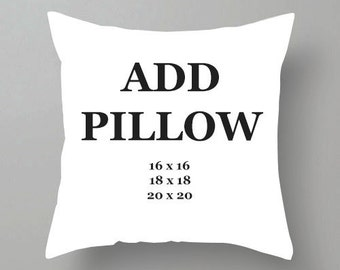 Add pillow insert to your pillow cover order