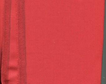 1 Yard of Vintage Tomato Red Wool Garbardine fabric, 12 oz