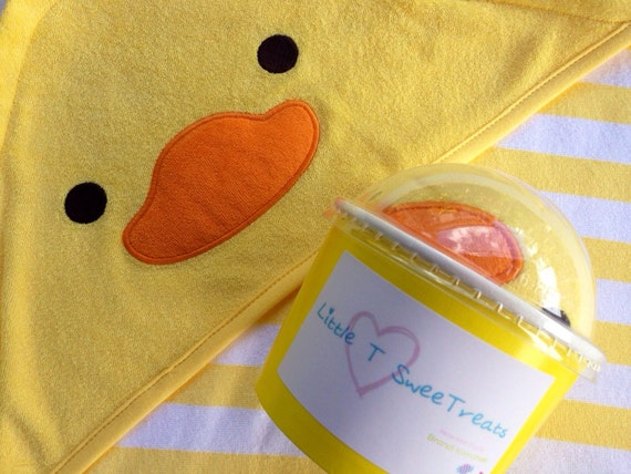 duck towel treat tub baby bath by littletsweetreats on etsy. Black Bedroom Furniture Sets. Home Design Ideas