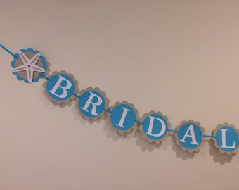 Starfish Bridal Shower Banner