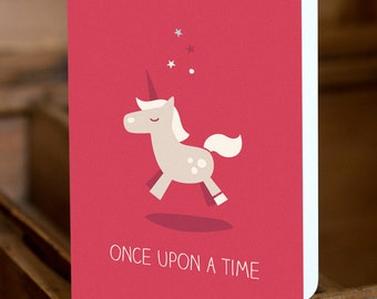 "GREETING CARD ""once upon a time"""