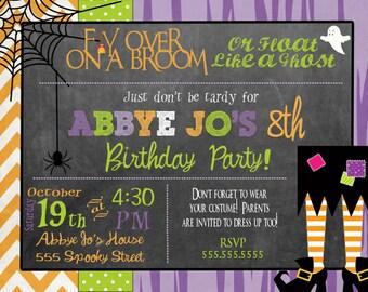Halloween Party Invitation Halloween Birthday Invitation Kids Halloween Birthday Party Invitation