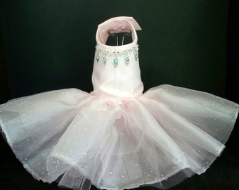 Stunning in Pink! Dog Dress, XXSmall to 4XLarge Dog Tutu, Wedding Dress, Harness Dress, Pet Clothes, Couture Dog Dress