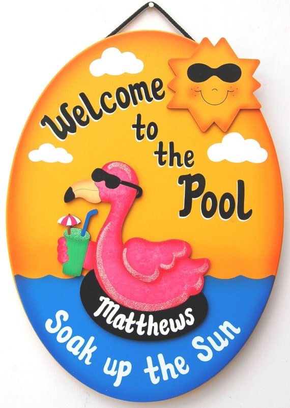 Personalized-Outdoor Pool Sign Welcome To The by ucsign on ...