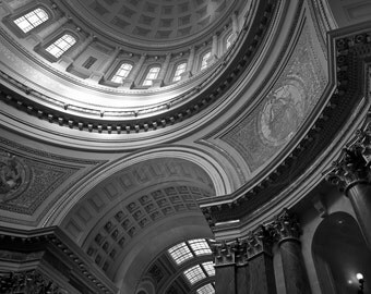 The Capital Rotunda, Madison, WI -  Photo Print of sun shining into the interior of the beautiful Capital building