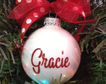 Christmas Ornament - Personalized Kids Ornament -Our Most Popular Christmas Ornament - Custom Made Ornament - Stocking Stuffer