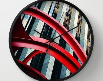 Skyrocket Wall Clock, Frank Gehry Photo Wall Clock, Architecture Modern Wall Clock, Retro Wall Clock, Home Decor, Round Clock