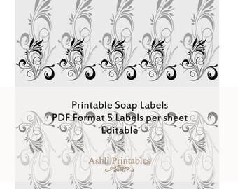 Printable Soap Labels Wraps Instant download