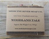 Woodland Tale - All Natural Herbal Soap, Nettle Soap, Green Tea and Tea Tree Oil Soap, Rosewood Soap, Cold Process, Vegan Soap