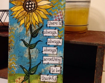 Sunflower painting, there is always something to be thankful for