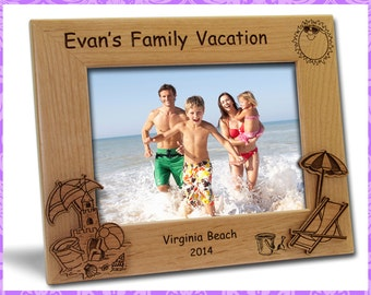 4x6 Personalized Custom Engraved Family Beach Vacation Picture Frame