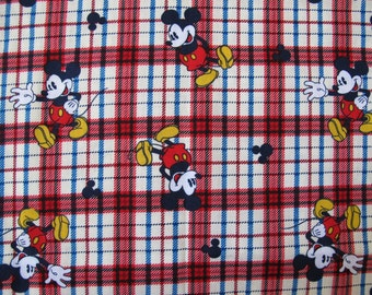 1/2 yard of 100% cotton Mickey Mouse Fabric