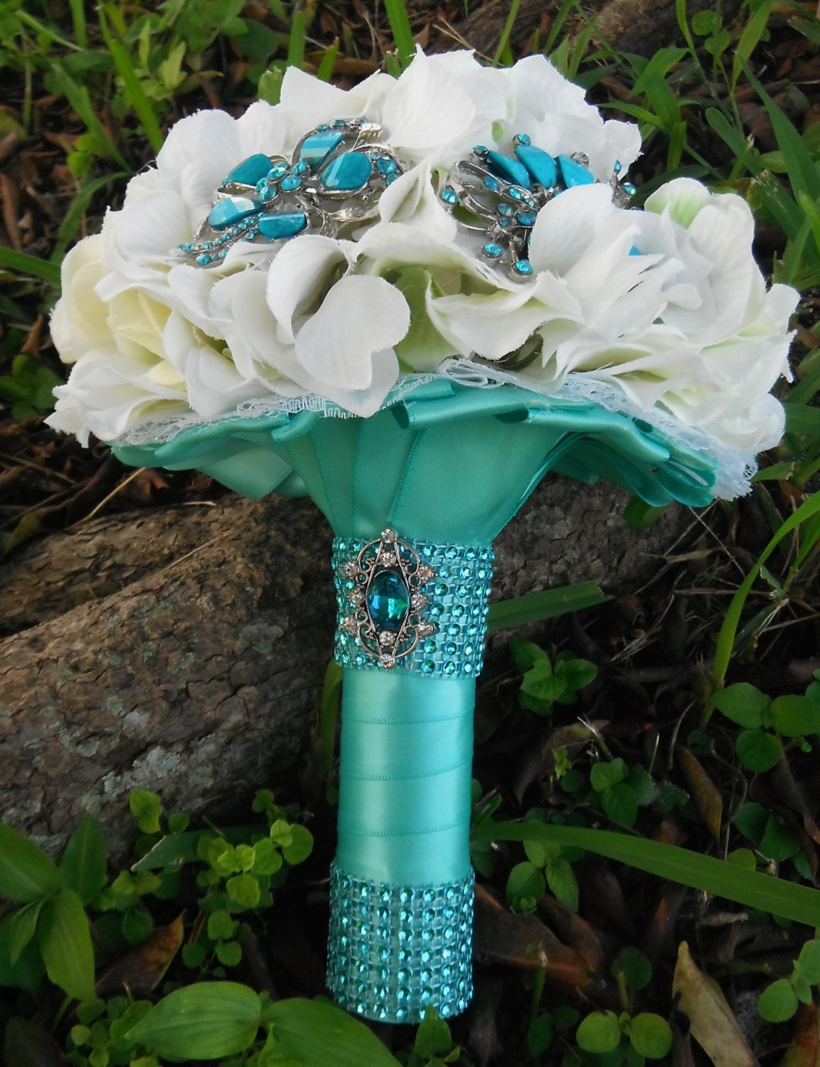 Fall Centerpieces With Feathers Tiffany Blue Wedding Sweet 16 Bouquet Bridal Brooch
