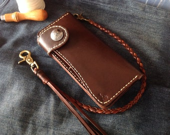 Leather Wallet Indy Coin montana (Dark brown)