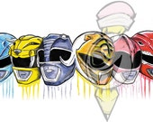 Power Rangers Print