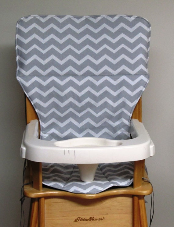 Eddie Bauer High Chair Pad Replacement Cover Zigzag Gray And