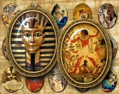 EGYPTIAN OVALS - Oval Images - 30 x 40 mm - Cabochon - Jewelry Supplies - Magnets - Buttons