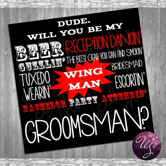 Groomsman Proposal Cards Beer Guzzlin' By WhimsicalStationery