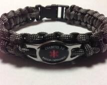 Diabetic Type 2 Insulin Dependent  Medical Alert Bracelet - Choose white or black charm