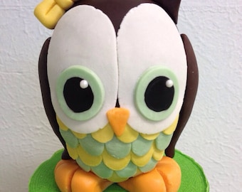 Fondant Owl Cake Topper- 3D Owl only