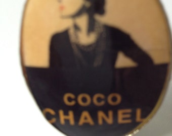 Beautiful vintage custom jewelry Coco Chanel ring