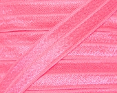 Passion Fruit Pink Fold Over Elastic - Elastic For Baby Headbands and Hair Ties - 5 Yards of 5/8 inch FOE